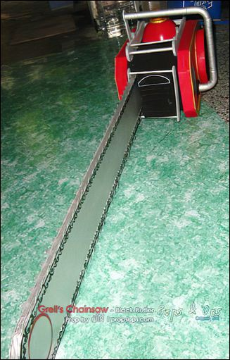 Props - Grell Sutcliff's Death Scythe Chainsaw - Black Butler